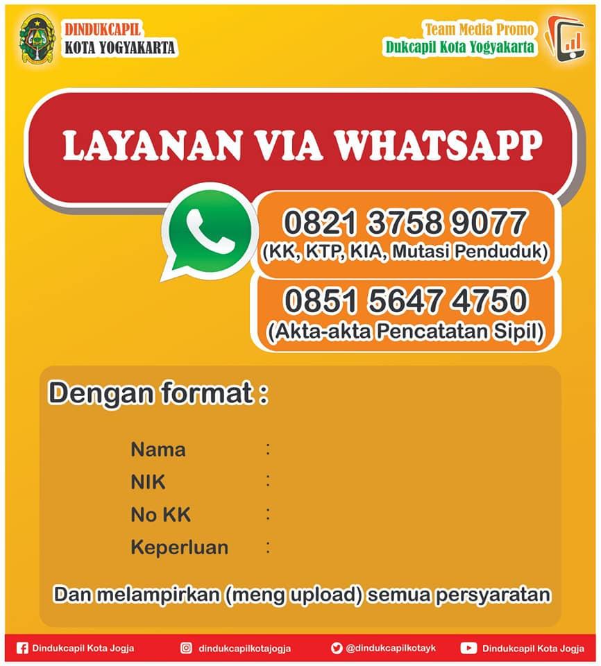 Layanan Kependudukan Via Whatsapp