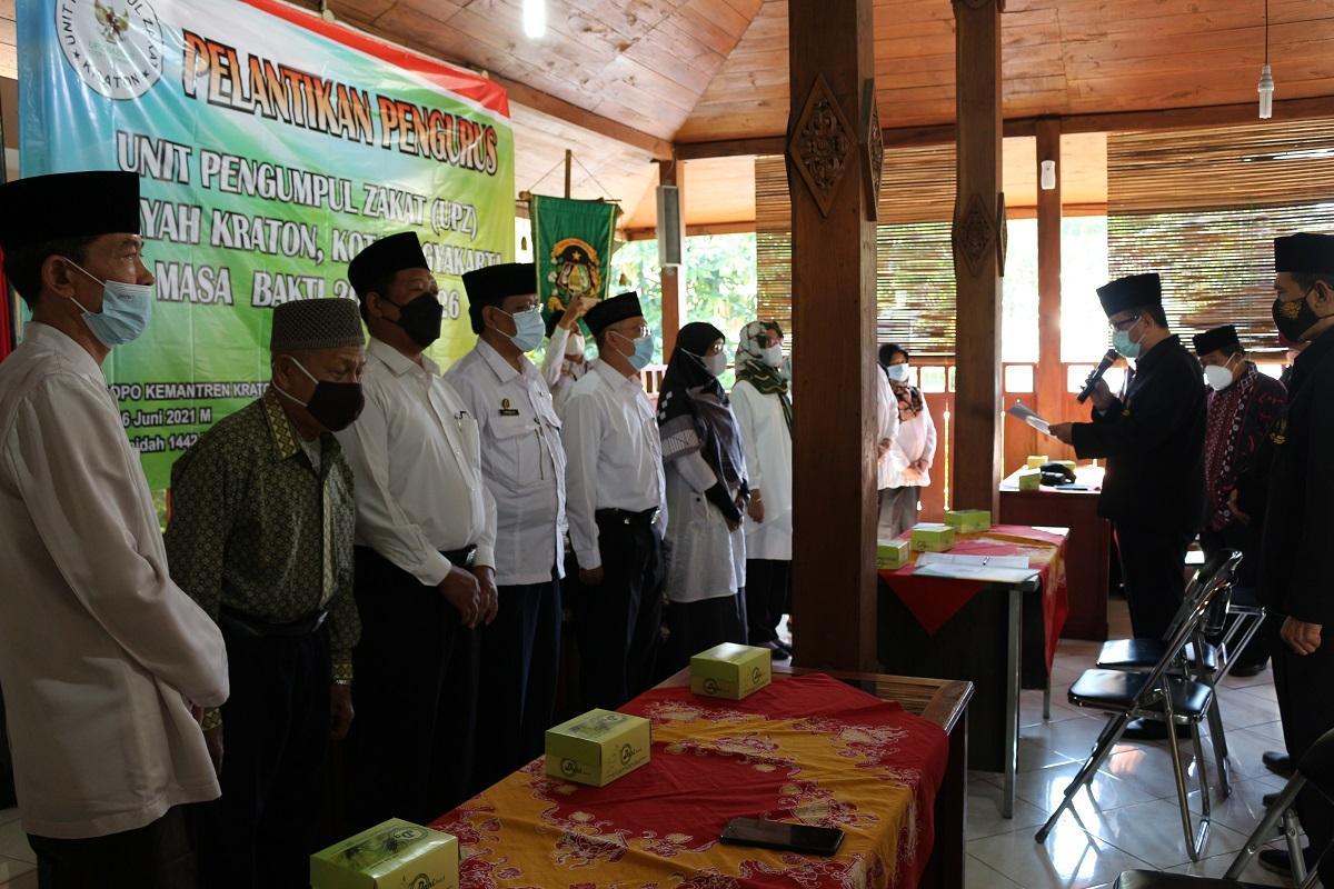 Pelantikan Pengurus Unit Pengumpul Zakat (UPZ) Wilayah Kemantren Kraton Yogyakarta Masa Bakti 2021 - 2026