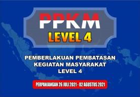 PPKM Level 4 Kembali Diperpanjang.